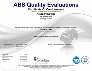 ABS quality eval certificate