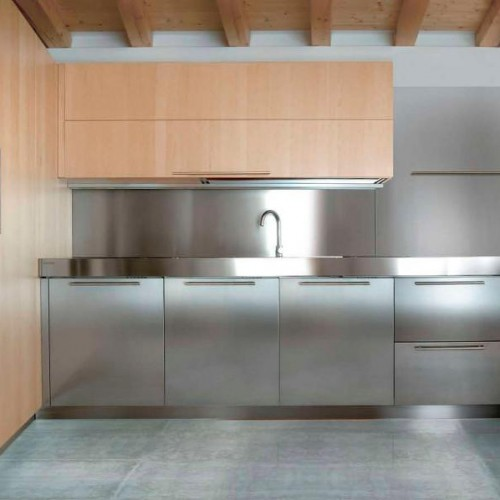 stainless steel sink and kitchen appliances