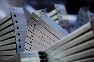 stacks of metal product, press brake